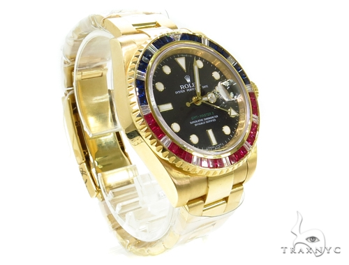 Rolex GMT II Yellow Gold 116758 Diamond Rolex Watch Collection