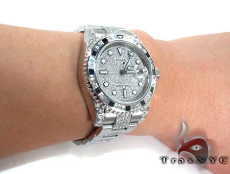Rolex GMT-Master II Steel Diamond Rolex Watch Collection