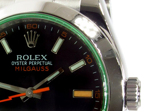 Rolex Milgauss Steel 116400GV Diamond Rolex Watch Collection