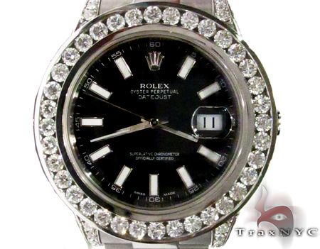 Rolex Datejust Steel and White Gold 116234 Diamond Rolex Watch Collection