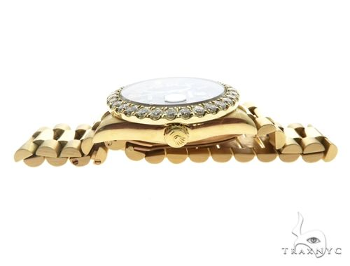 18K Yellow Gold Rolex President Day-Date 63854 Diamond Rolex Watch Collection