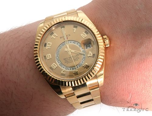 Rolex Sky Dweller Yellow Gold Diamond Rolex Watch Collection
