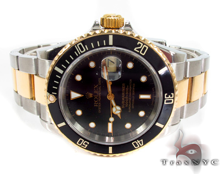 Rolex Submariner Yellow Gold and Steel 16613 Diamond Rolex Watch Collection