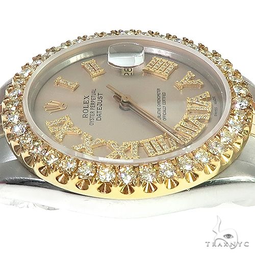 Rolex Two-Tone DateJust 36mm Diamond Bezel Watch 66438 Diamond Rolex Watch Collection