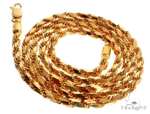 22k Yellow Gold Solid Rope 22 Inches 3.7mm 51.0 Grams 64450 Gold
