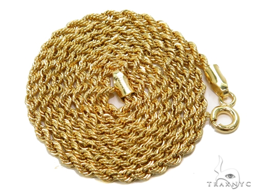 Rope Gold Chain 18 Inches 2mm 2.46 Grams 40355 Gold