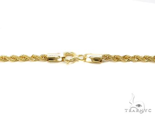 Rope Gold Chain 22 Inches 2mm 3 Grams 40357 Gold
