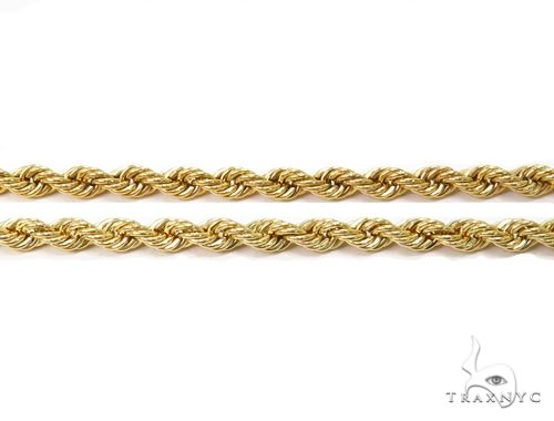 Hollow Rope Gold Chain 24 Inches 2.7mm 4.35 Grams 63800 Gold
