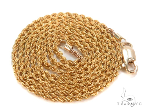 Rope Gold Chain 24 Inches 2mm 2.3  Grams 43592 Gold