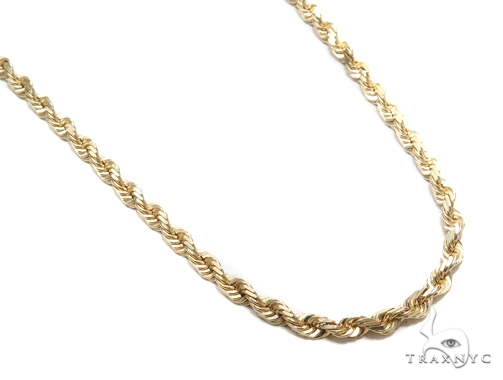 Rope Gold Chain 24 Inches 4mm 41 Grams 42982 Gold