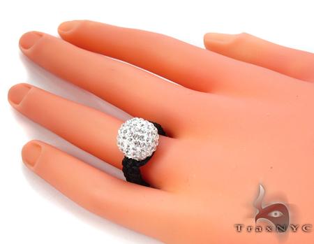 Rope White Crystal Ring 28117 Anniversary/Fashion