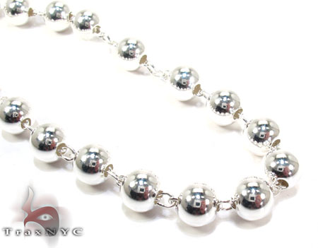 Rosary Silver Chain 28 Inches, 7mm, 59.4 Grams Silver
