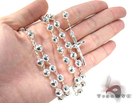 Rosary Silver Chain 30 Inches, 7mm, 46.3 Grams Silver
