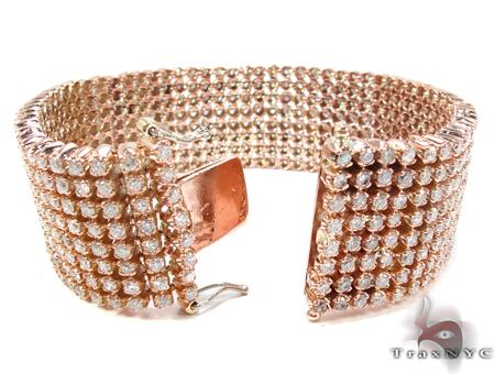 Rose Gold 8 Row Bracelet Diamond