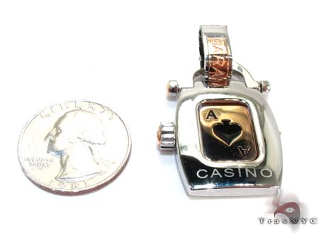 Baraka Rose Gold & Steel Casino Pendant Metal