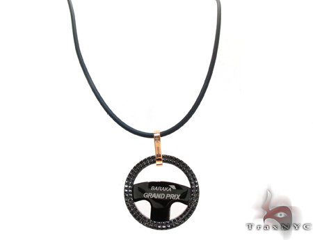 Rose Gold and Stainless Steel Baraka Grand Prix Pendant Metal