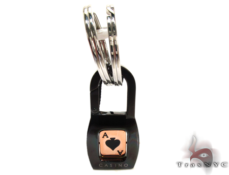 Rose Gold and Stainless Steel Baraka Casino Key Chain Metal