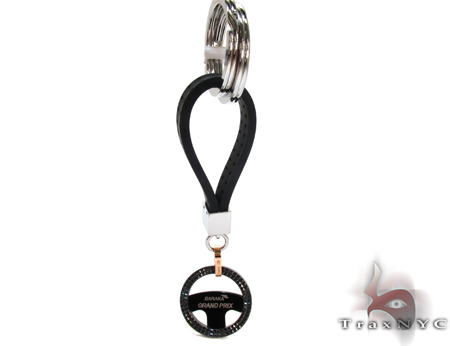 Rose Gold and Stainless Steel Baraka Grand Prix Key Chain Metal