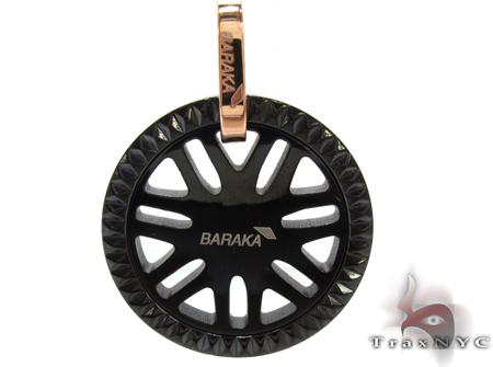 Baraka Rose Gold & Stainless Steel Sunburst Pendant Metal