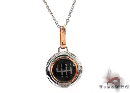 Rose Gold and Stainless Steel Baraka Pendant Metal