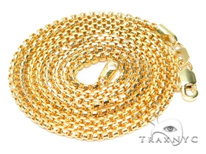 Round Box Gold Chain 22 Inches 2mm 4 Grams 40908 Gold