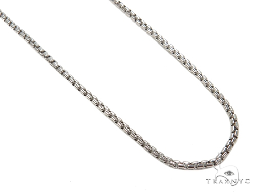Round Box Gold Chain 16 Inches 2mm 3.7 Grams Gold