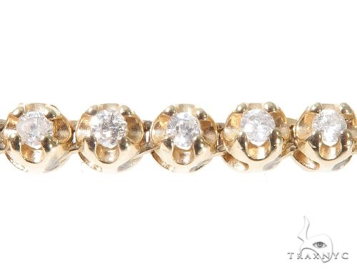 Round Cut Prong Diamond Chain 22 Inches 4mm 41.4 Grams 64001 Diamond