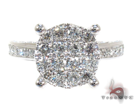 Round Cut Prong Diamond Ring Engagement