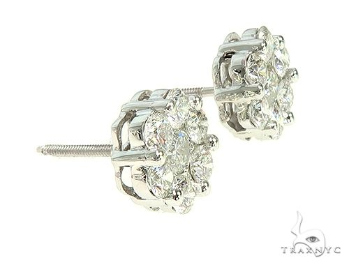 True VS Cluster Stud Earrings Stone