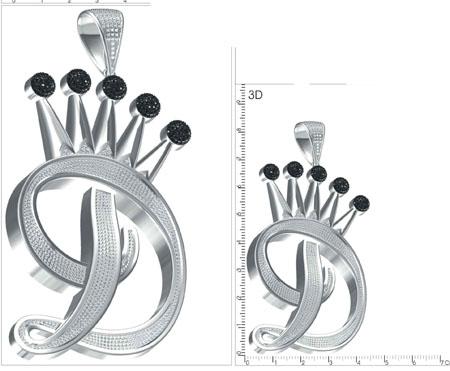 Royal D Pendant Style