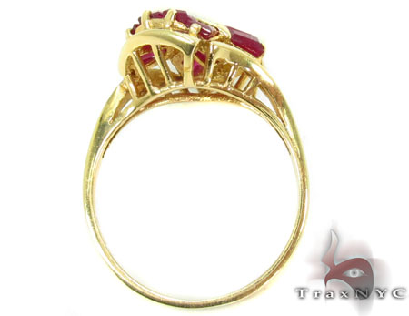 Ruby Lace Bow Ring Anniversary/Fashion