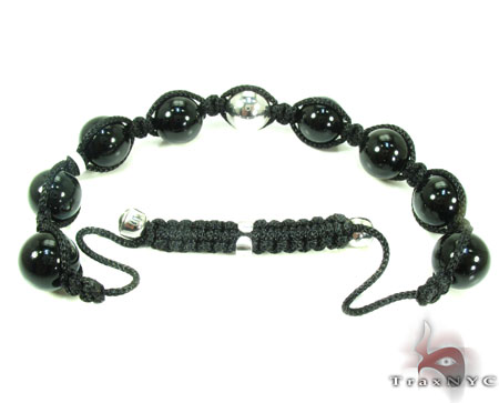Silver with Champagne Color Diamond Bead Ball Bracelet Silver