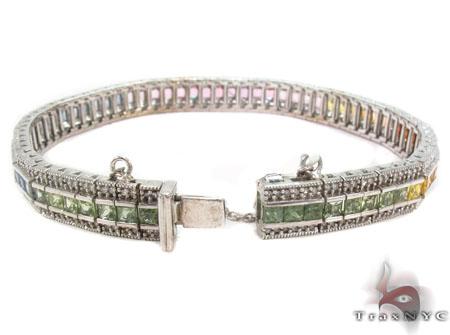 Sapphire Gemstone Diamond Bracelet 31718 Gemstone & Pearl