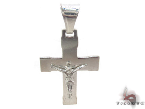 Silver Jesus Cross Crucifix 34497 Silver