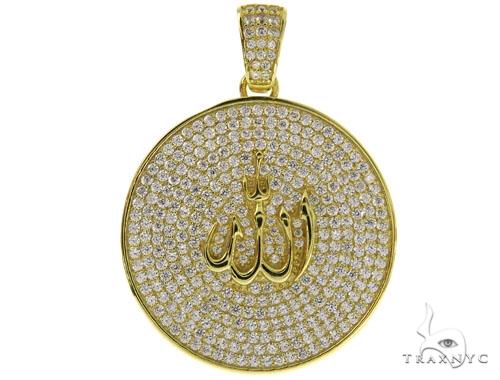 Silver Allah Pendant 57013 Metal