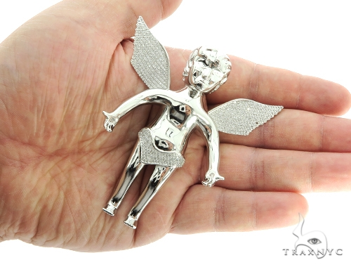 Silver Angel Pendant 56986 Metal