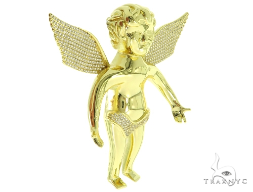 Silver Angel Pendant 56987 Metal