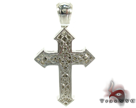 Silver Black Diamond Cross Silver
