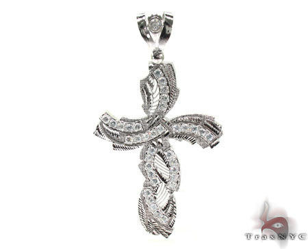 Silver CZ Cross Crucifix 30918 Silver