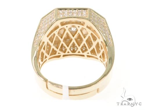 Silver CZ Men's Flower Ring 49032 Metal
