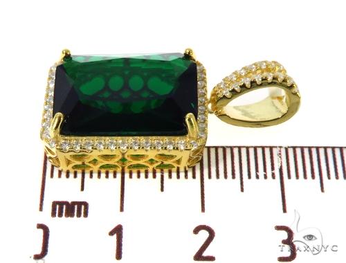 Silver CZ Hot Green  Gemstone 49049 Metal