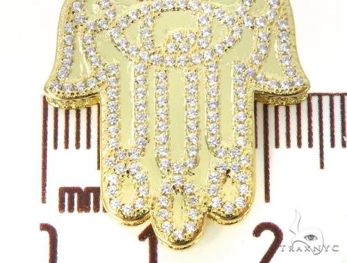 Silver CZ Khamsa Pendant 49037 Metal