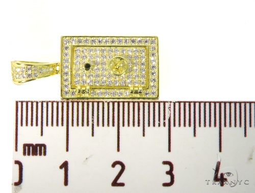 Silver CZ Safe Pendant 49027 Metal