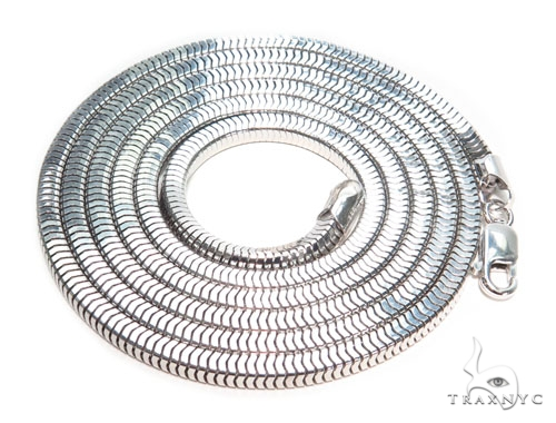 Silver Chain 30 Inches 4mm 41.40 Grams 41106 Silver