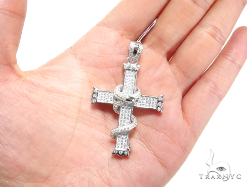 Silver Cross Crucifix 41265 Silver