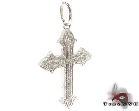 Silver Diamond Cross Silver