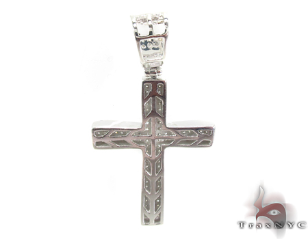 Silver Diamond Cross Crucifix 31138 Silver