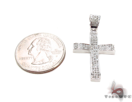 Silver Diamond Cross Crucifix 31138 Silver