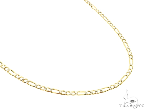 Silver Diamond Cut Figaro Link Chain 24 Inches 3mm 5.90 Grams Silver