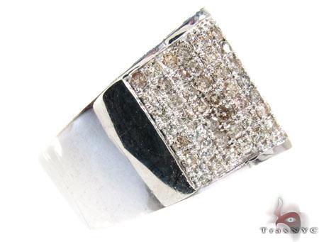 Silver Diamond Modern Ring 25653 Metal